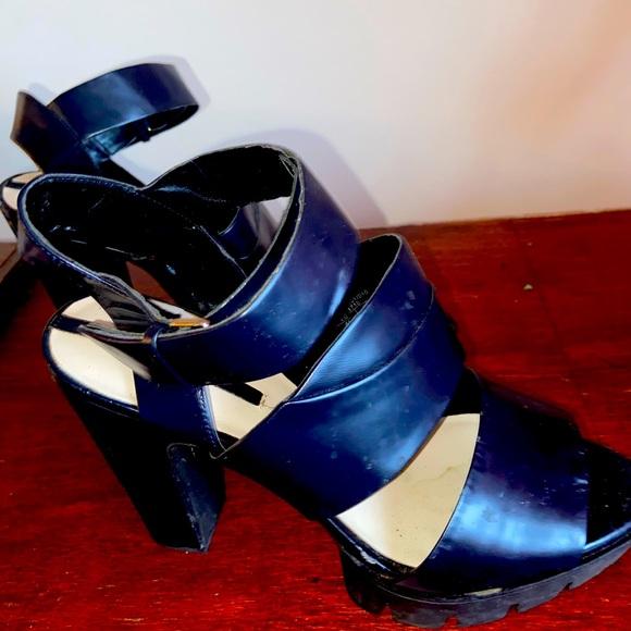 A True Navy Blue Platform Sandal